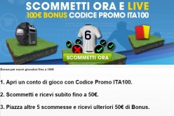 Bonus Scommesse William Hill 100 euro