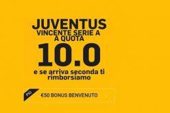 Betfair e la quota maggiorata per la Juventus vincente dello scudetto