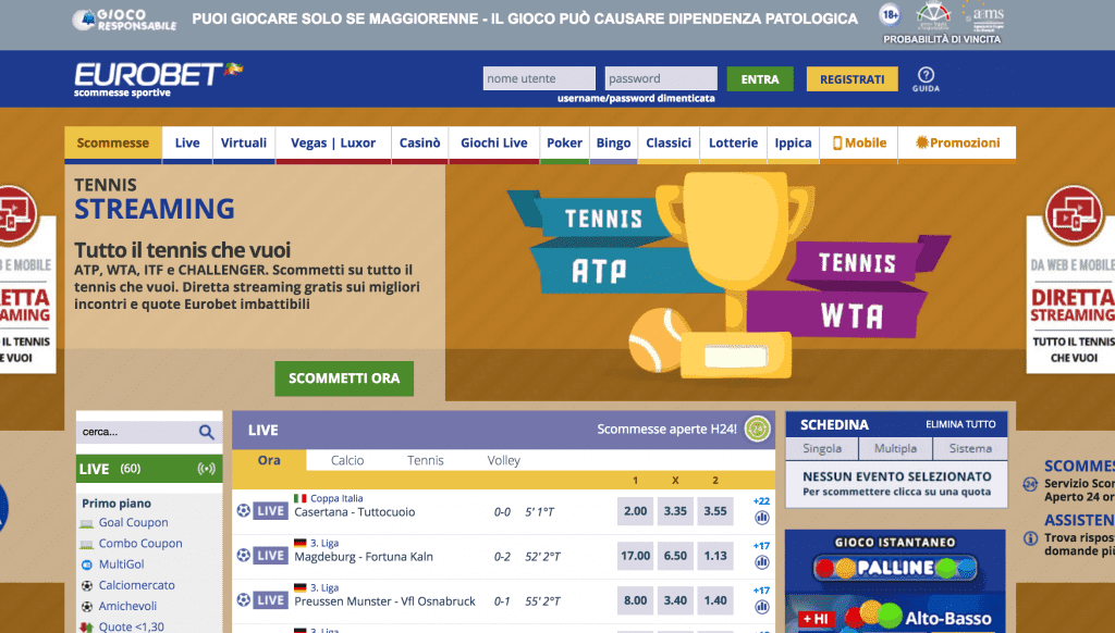 Eliminare account eurobet