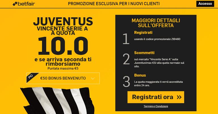 Betfair-Quota-Maggiorata-Juve-vincente