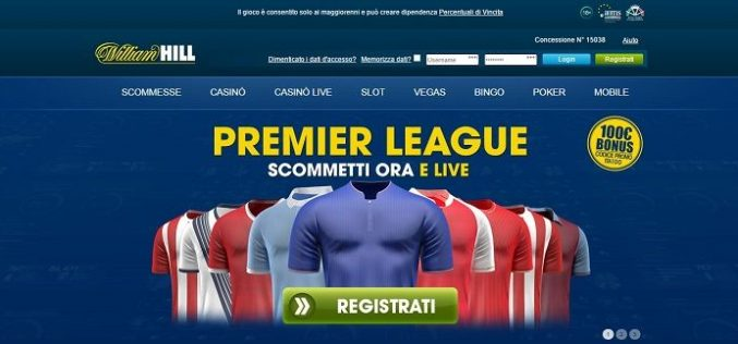 William Hill lancia le scommesse live a 5 minuti