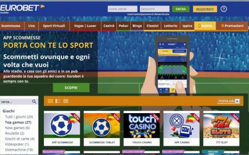 Recensione sull'App Scommesse di Eurobet: disponibile per Iphone, Android e Windows
