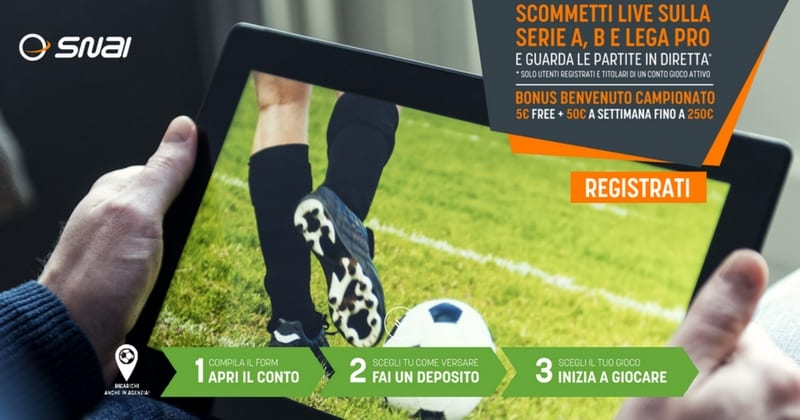 calcio streaming snai