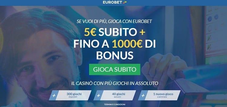 eurobet casino bonus