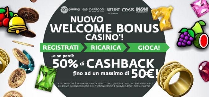 Betaland offre un Welcome Bonus Casinò del 50% fino a 50€ da cogliere al volo!