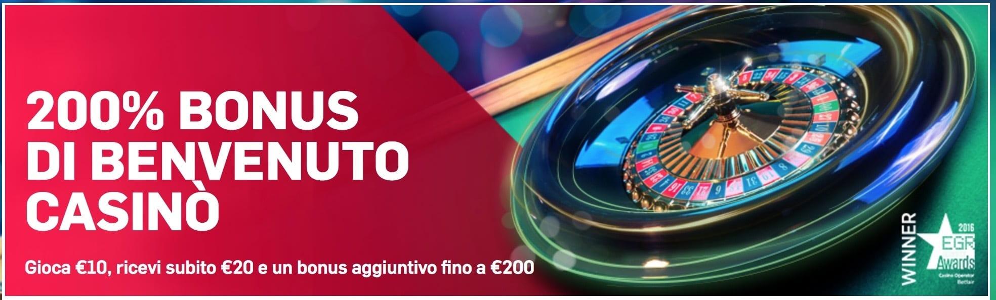 betfair casino promozione