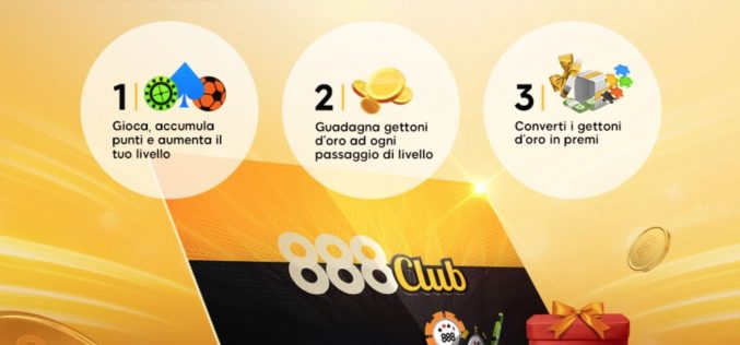 888Club Special 5: supera i 5 livelli e fai il carico di gettoni d'oro!