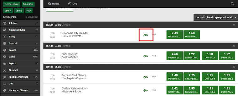 Unibet tv steaming