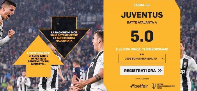 Quota maggiorata Atalanta-Juventus Coppa Italia: Scopri Come Usufruirne