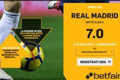 Quota Maggiorata Champions League Ajax-Real Madrid: Scopri come Usufruirne