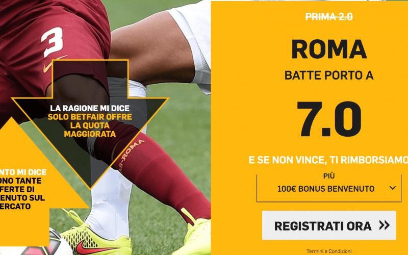 Quota Maggiorata Champions League Roma – Porto: Scopri come Usufruirne