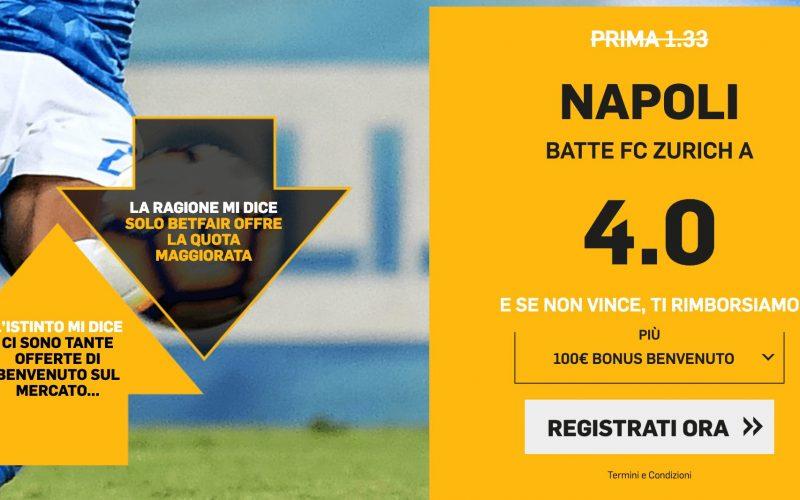 Quota Maggiorata Europa League Zurigo-Napoli: Scopri come Usufruirne