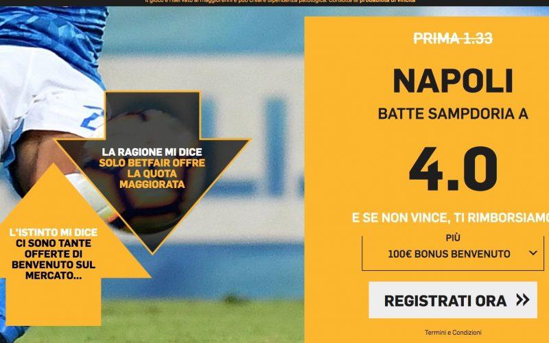 Quota Maggiorata Napoli-Sampdoria: Scopri come Usufruirne