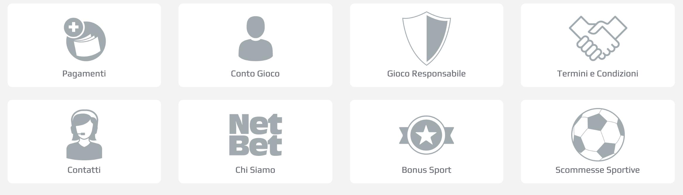 Assistenza Clienti e modalità di pagamento di Netbet Sport