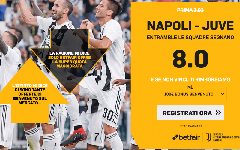 Quota Maggiorata Serie A, Napoli-Juventus: Scopri come Usufruirne