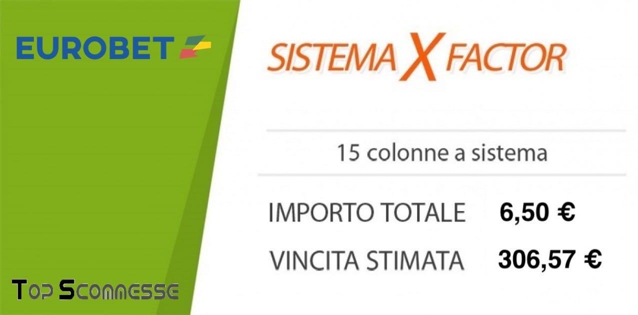 Sistema X factor eurobet