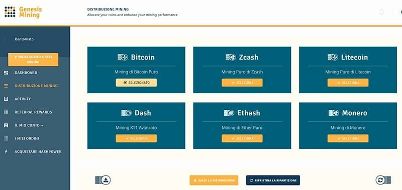 genesis mining cloud piattaforma