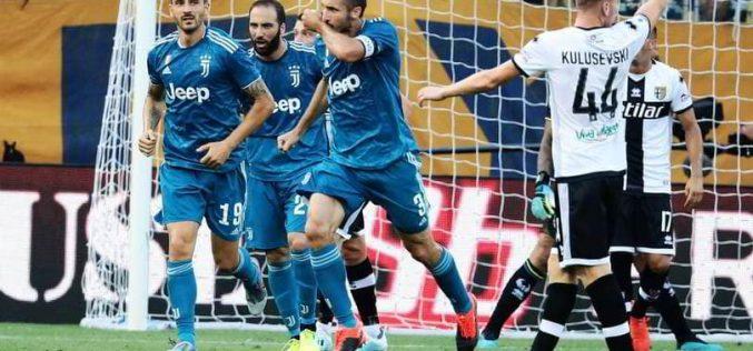 Parma-Juventus 0-1: la decide Chiellini, Juve in chiaroscuro