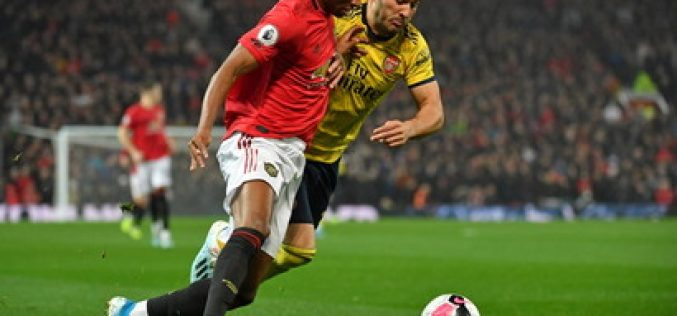 Manchester United-Arsenal 1-1, Aubameyang salva i gunners all'Old Trafford