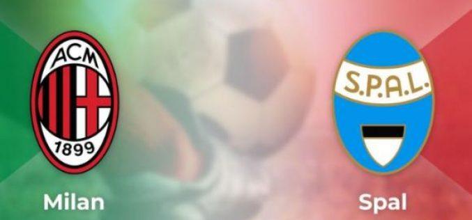 Serie A, Milan-Spal: quote, pronostico e probabili formazioni (31/10/2019)