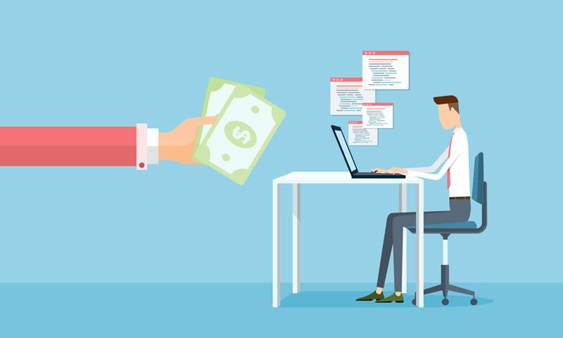 lavorare e guadagnare online landing page