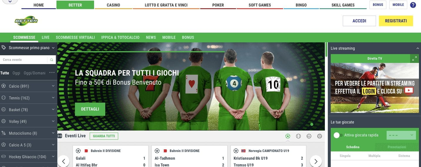 lottomatica scommesse homepage