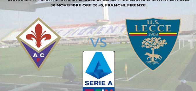 Serie A, Fiorentina-Lecce: quote, pronostico e probabili formazioni (30/11/2019)