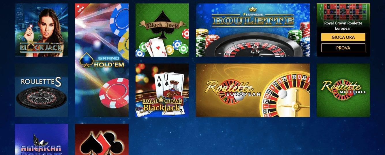 starvegas offerta giochi casino