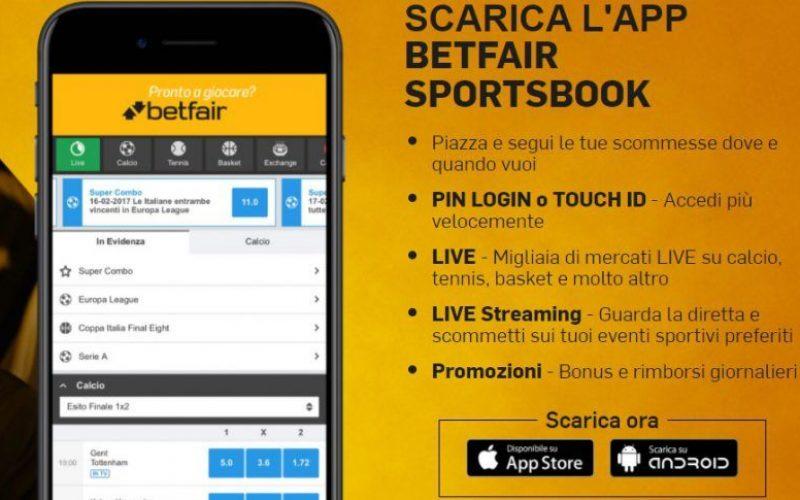 Betfair App mobile: proprietà e funzionalità