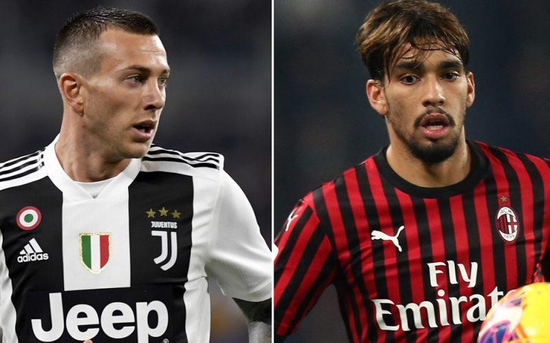 Juve-Milan, si studia lo scambio Bernardeschi-Paquetà