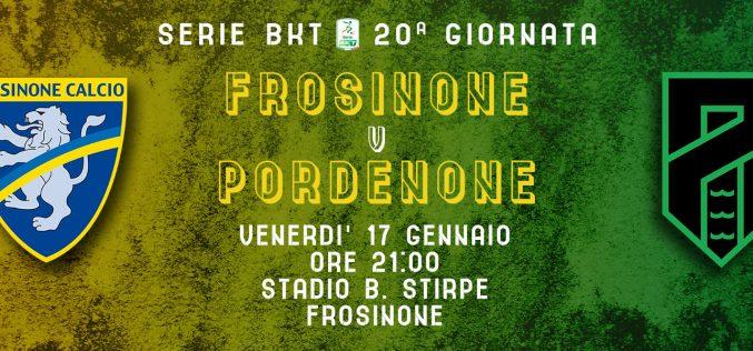 Serie B, Frosinone-Pordenone: quote, pronostico e probabili formazioni (17/01/2020)