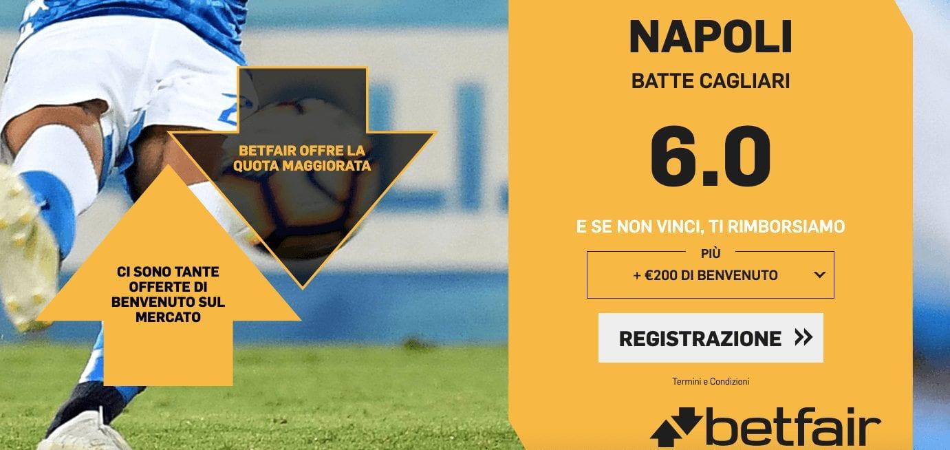 """Quota Maggiorata """"Cagliari - Napoli"""""""