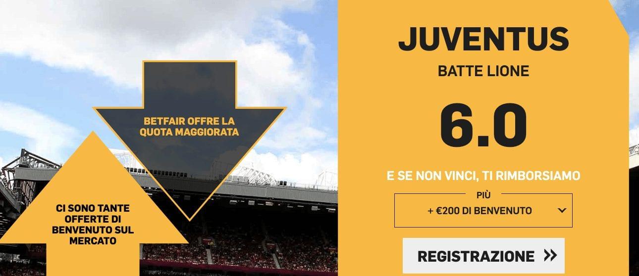 Quota Maggiorata Spal-Juventus