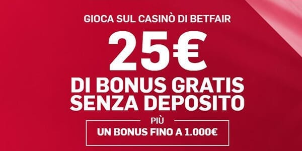 bonus senza deposito casino betfair