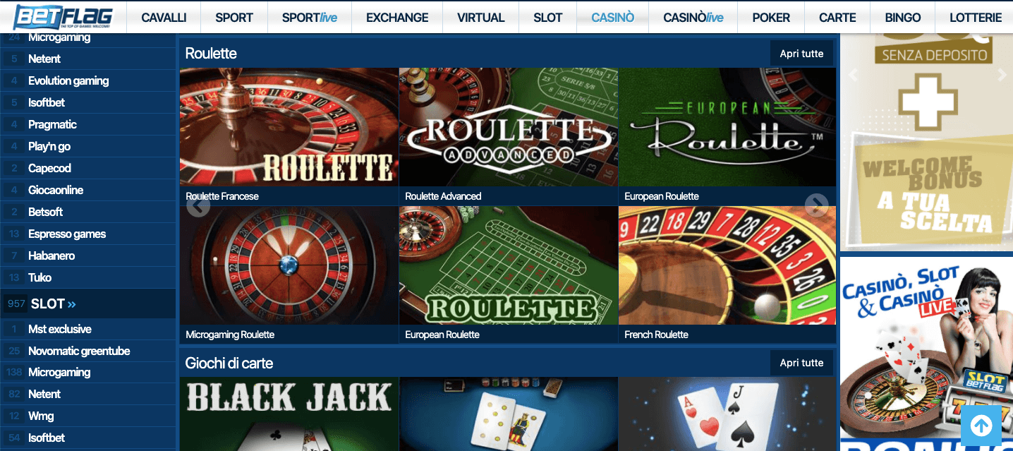 Betflag Casino slot