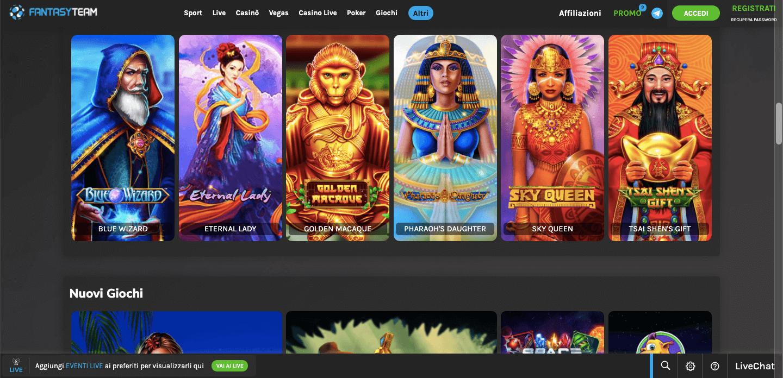 Fantasy Team Casino slot