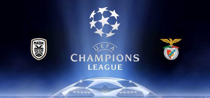 Champions League, Paok-Benfica: quote, probabili formazioni e pronostico (15/09/2020)