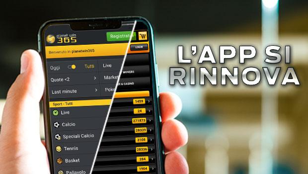 L'app mobile di Planetwin365