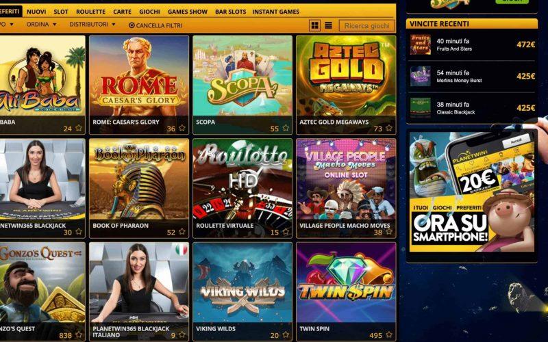 Quali sono le migliori slot machine di Planetwin365 Casino?