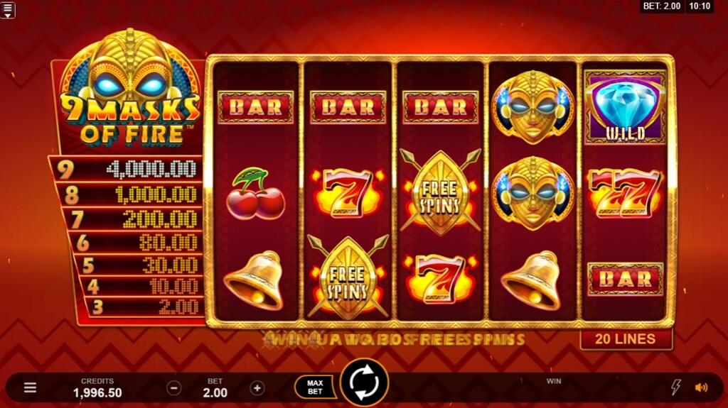 Slot machine 9 Masks of Fire