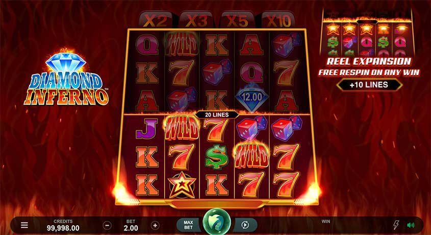 Slot machine Diamond Inferno